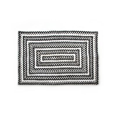 Crayon Braided Rug - 2' x 3' - Black & White