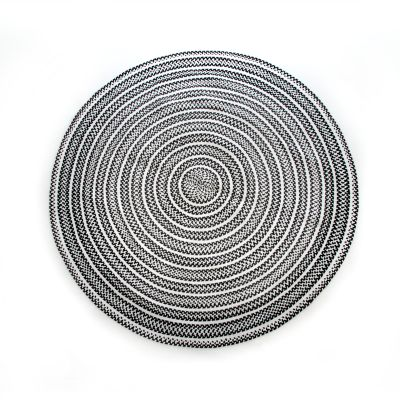 Crayon Braided Rug - 6' Round - Black & White