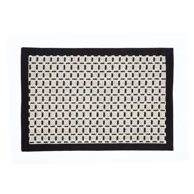 Bauhaus Check Rug - 2' x 3' - Black & White