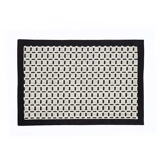 Bauhaus Check Rug - 2' x 3' - Black & White image one