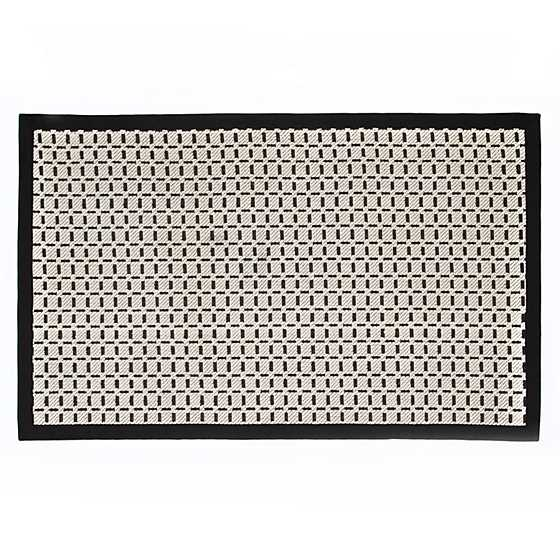 Bauhaus Check Rug - 3' x 5' - Black & White image two