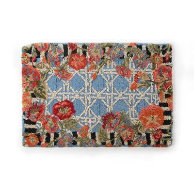 Blue Morning Glory Indoor/Outdoor Rug - 2' x 3'