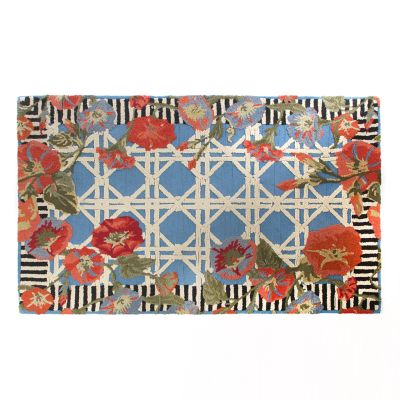 Blue Morning Glory Indoor/Outdoor Rug - 5' x 8'