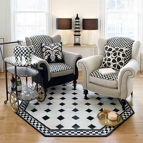 Westminster Hair on Hide Rug - 6' Octagon - White image two