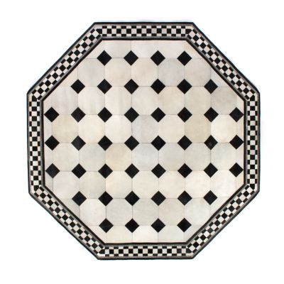 Image for Westminster Hair on Hide Rug - 6' Octagon - White