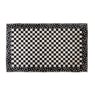 Mod Rocker Hair on Hide Rug - 5' x 8'