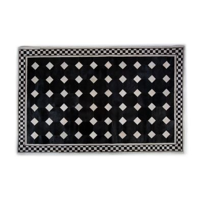 Westminster Hair on Hide Rug - Black - 5' x 8'