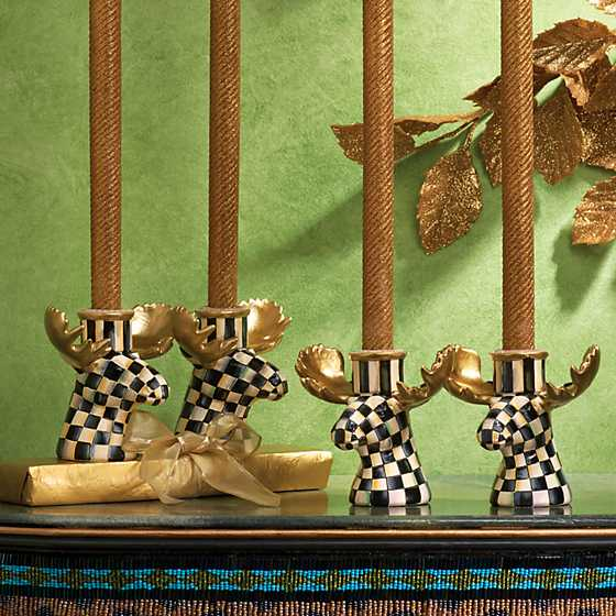 Courtly Check Moose Candlesticks - Set of 2 image seven