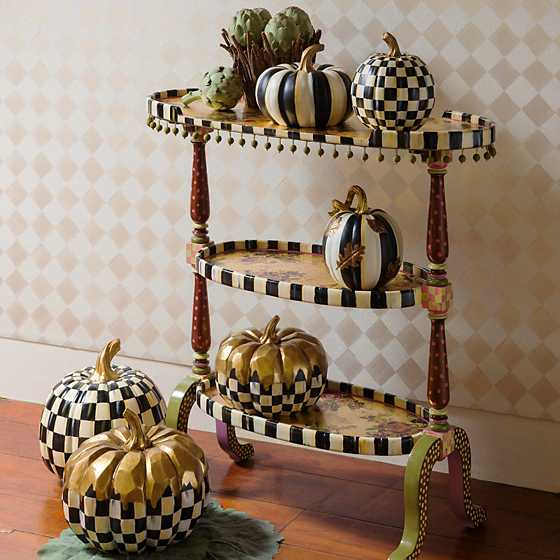 Courtly Stripe Squashed Pumpkin - Small image two