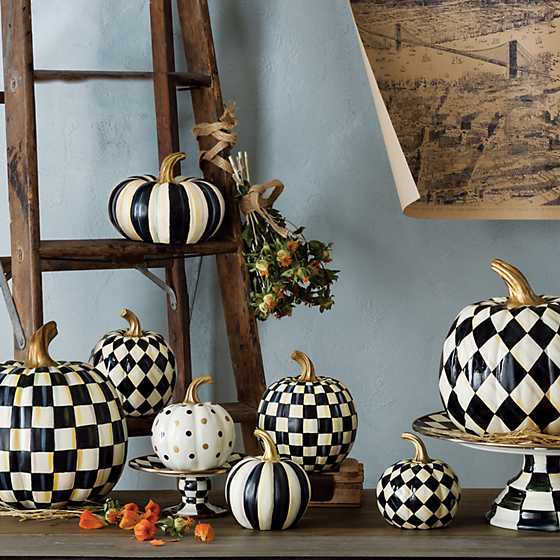Courtly Stripe Squashed Pumpkin - Small image five