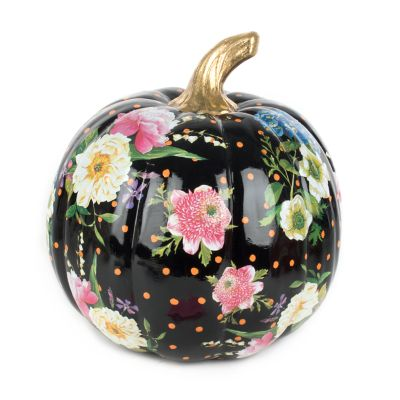 Flower Market Pumpkin - Medium - Black