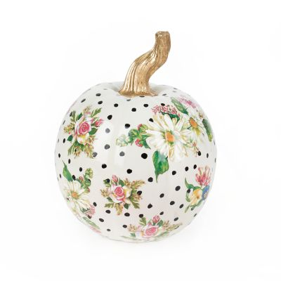 Flower Market Pumpkin - Small - White
