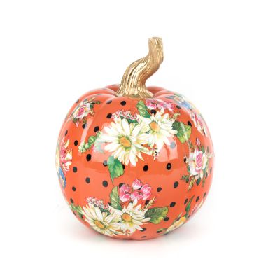 Flower Market Pumpkin - Small - Orange