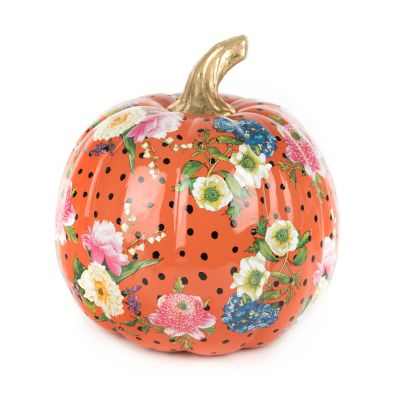 Flower Market Pumpkin - Medium - Orange