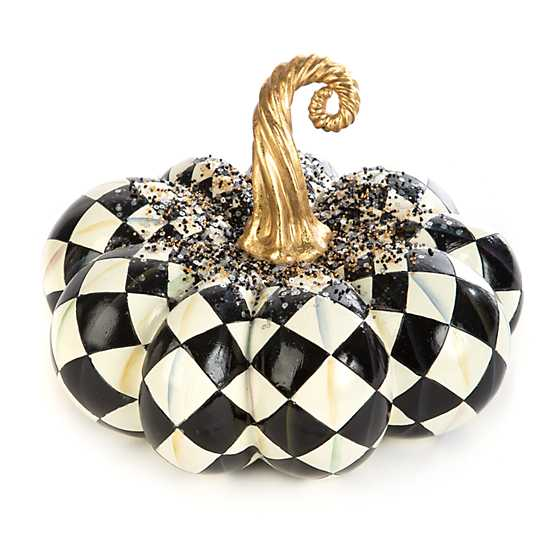 Beaded Harlequin Squashed Pumpkin