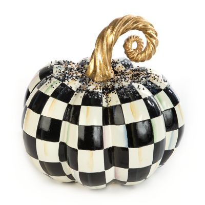 Beaded Check Pumpkin - Medium