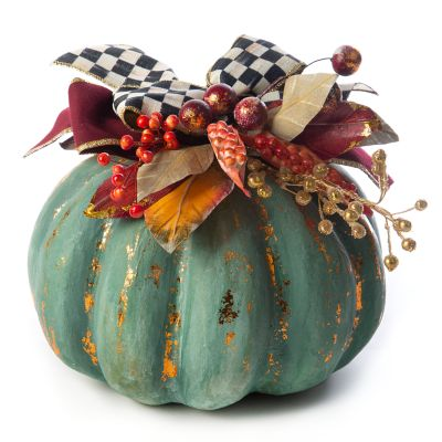 Verdigris Pumpkin - Medium
