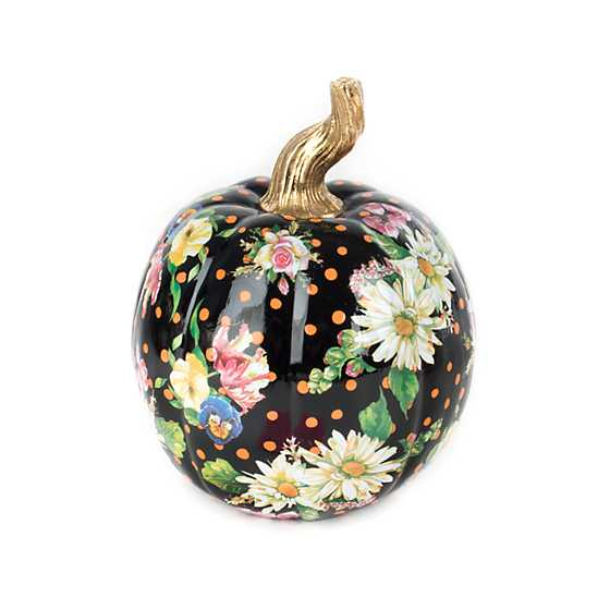 Flower Market Pumpkin - Small - Black image one