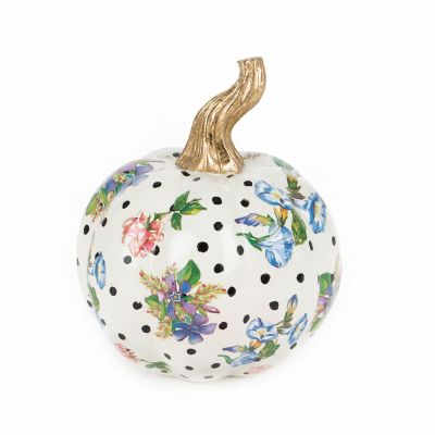 Flower Market Pumpkin - Mini - White