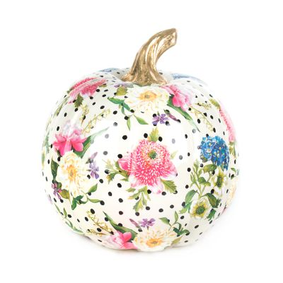 Flower Market Pumpkin - Medium - White