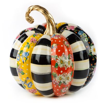 Flower Market Patchwork Pumpkin - Large