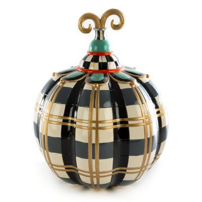 Tartan Spice Pumpkin - Grey Plaid