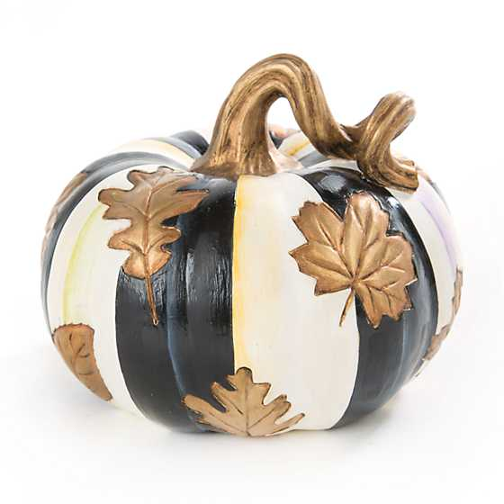 Falling Leaves Squashed Pumpkin - Small
