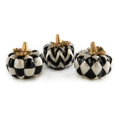 Autumn Naturals Capiz Pumpkins - Set of 3