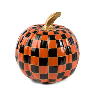 Orange Check Pumpkin - Medium