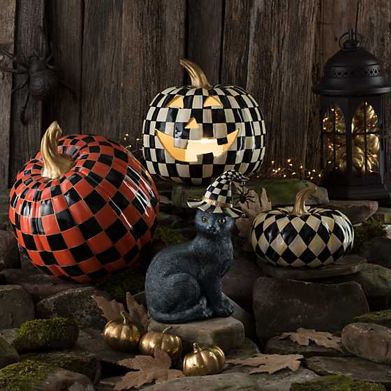 Courtly Harlequin Squashed Pumpkin - Small image four