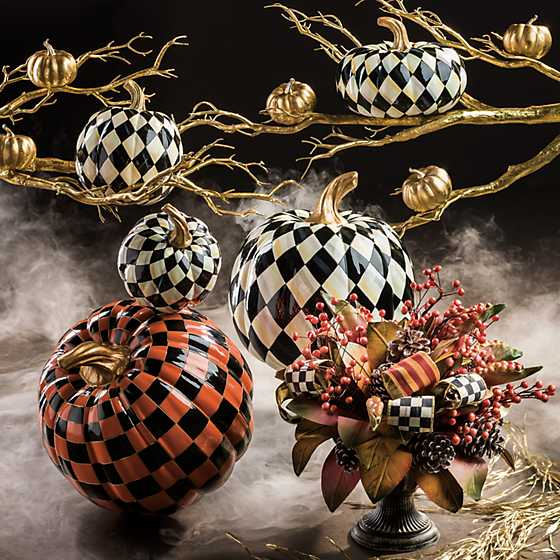 Courtly Harlequin Squashed Pumpkin - Small image five