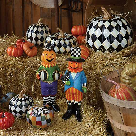 Courtly Harlequin Squashed Pumpkin - Small image six
