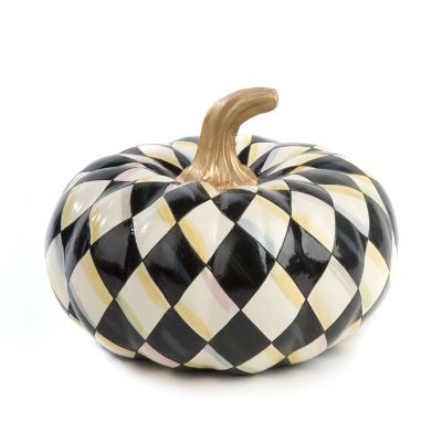 Courtly Harlequin Squashed Pumpkin - Small