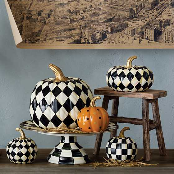 Courtly Harlequin Pumpkin - Medium image three