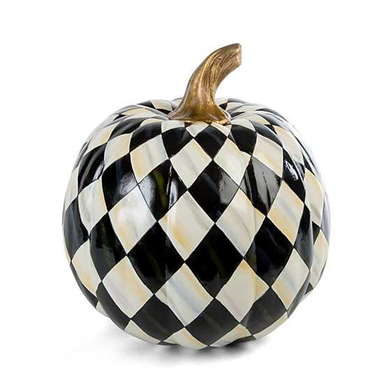 Courtly Harlequin Pumpkin - Medium