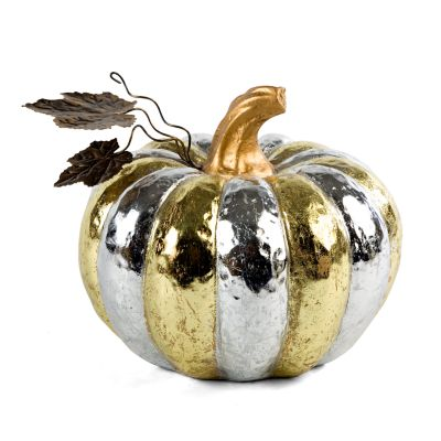 Silver & Gold Pumpkin - Medium