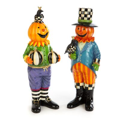 Peter & Paulette Pumpkins - Set of 2