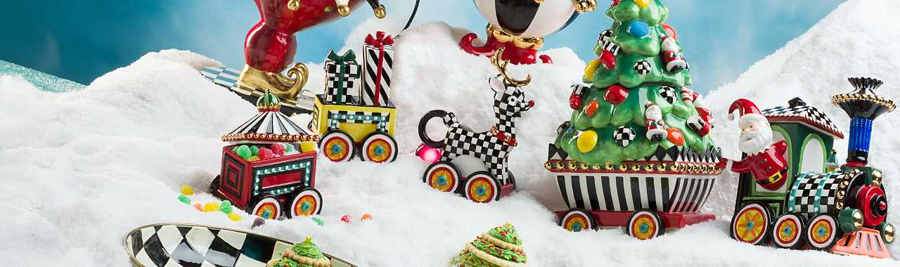 Christmas Train - 5-Piece Ceramic Set Banner Image