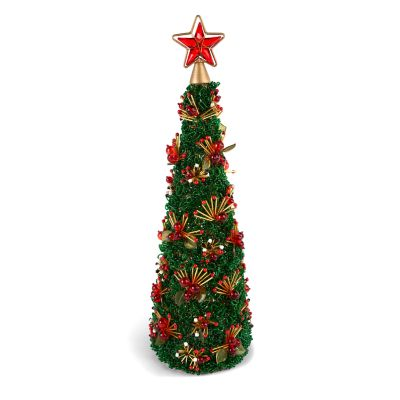 Savoy Holiday Beaded Tree - 18""