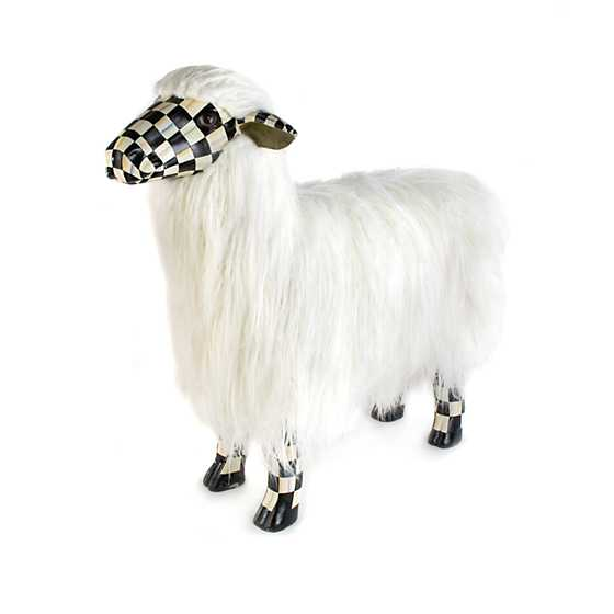 Courtly Check White Sheep - Large