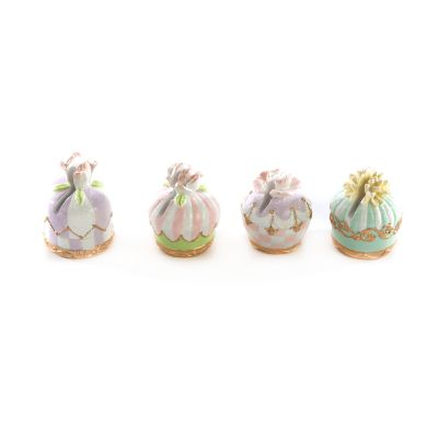 Pastel Confections Petit Four Place Card Holder - Set of 4