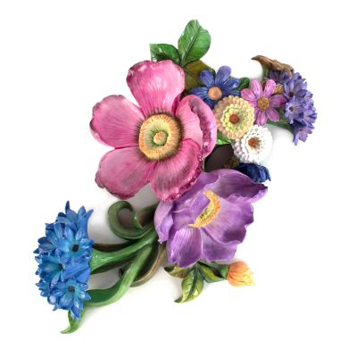 Image for Flower Market Wall Art - Blue