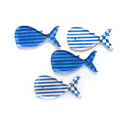Big Blue Small Plates - Set of 4