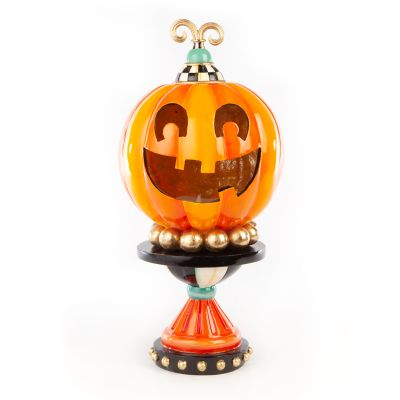Illuminated Happy Pumpkin - Small