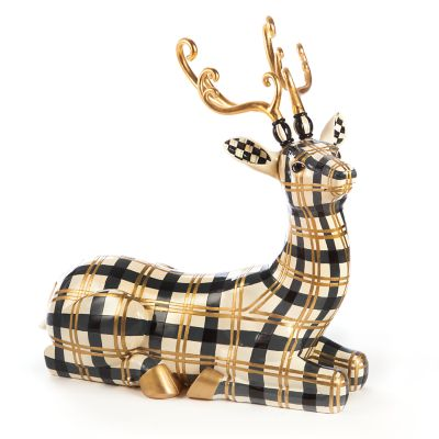 Golden Hour Tartan Sitting Deer