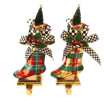 Tartan Stocking Hooks - Set of 2