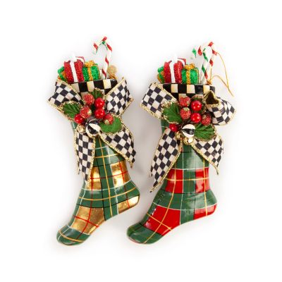 Tartan Stocking Ornaments - Set of 2
