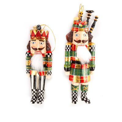 Tartan Nutcracker Ornaments - Set of 2