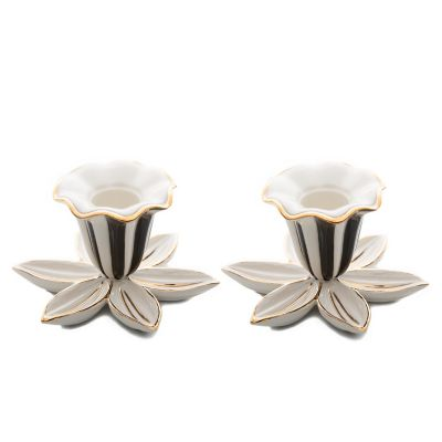 Mod Flower Candle Holders - Set of 2