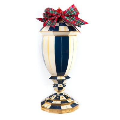 Royal Check Lidded Urn - Medium